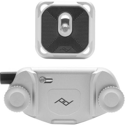 Peak Design Capture Camera Clip (V3) Silver With Plate