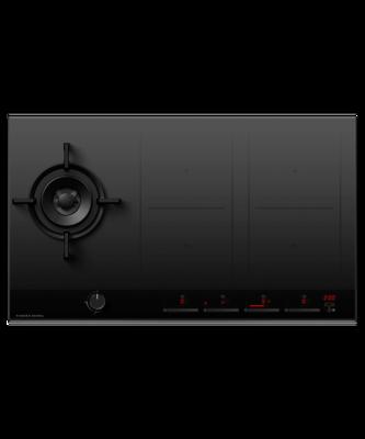 Fisher & Paykel Gas+Induction 5 Burner LPG Combi Cooktop Black - Series 9