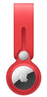 Apple Airtag Leather Loop - Red
