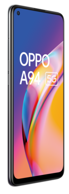 Oppo a94 5g fluid black front45left rgb lowres