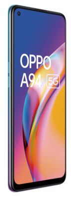 Oppo a94 5g cosmo blue front45left lowres