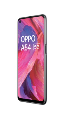 Oppo a54 5g fluid black front45right lowres
