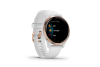 Garmin Venu 2S Rose Gold Stainless Steel Bezel with White Case and Silicone Band