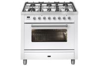 ILVE 90cm Dual Fuel Freestanding Cooker - White