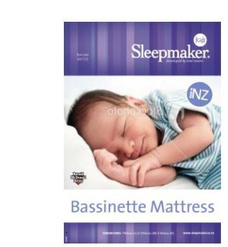 Sleemaker Kids Bassinette Mattress