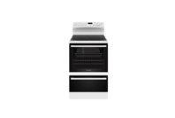 Westinghouse 60cm White Electric Freestanding Cooker with 4 Zone Ceramic Cooktop