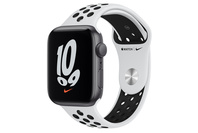 Apple Watch Nike SE GPS, 44mm Silver  Case With Pure Platinum/Black Band