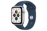Apple Watch SE GPS, 44mm Silver  Case With Abyss Blue Sport Band