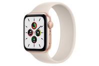 Apple Watch SE GPS, 44mm Gold  Case With Starlight Sport Band