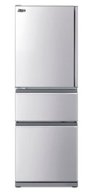 Mitsubishi 370 Litre Multi-Drawer Fridge Freezer Left Hinge - Stainless Steel